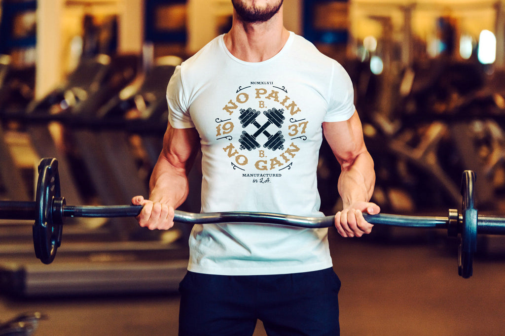 No Pain No Gain ! 1937 in LA. Workout Gyma Motivation Men T-shirt