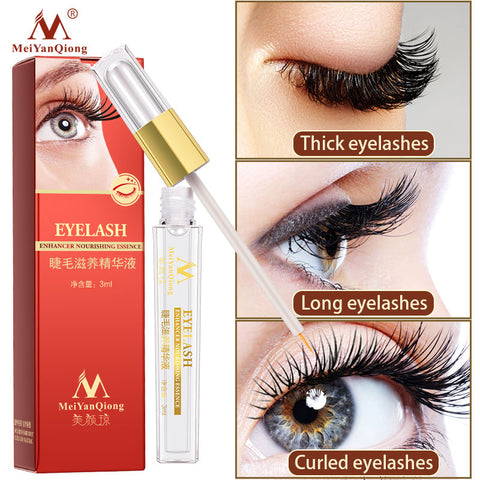 Eyelash Growth Essence Effectively Strengthens Eyelash Roots Nutrition Long Eyelashes Black