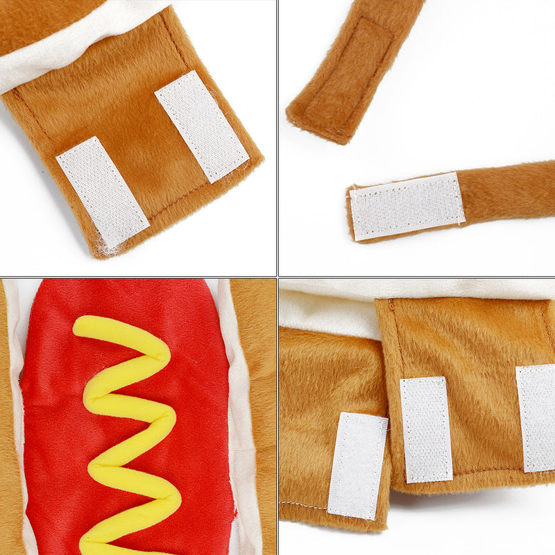 Hot Dog Pets Puppy Halloween Costume Clothes Mustard