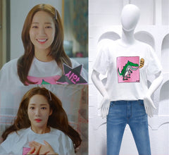 "Parenting Tshirt Maternit Park Min Young Korean dramas ""Her private life"" Shorts Family look Summer Tees Ryan Gold"