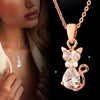Image of WHITE CUBIC ZIRCON CAT PENDANT