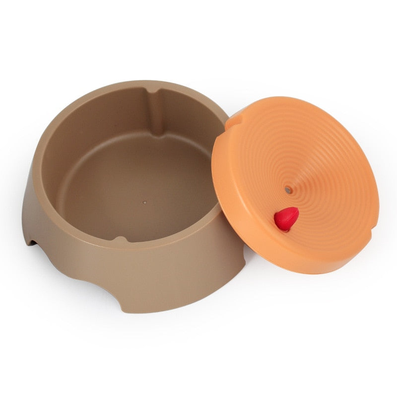 2 in 1 Detachable Cat Dog Bowl Plastic Plate Innovative Anti-Spill