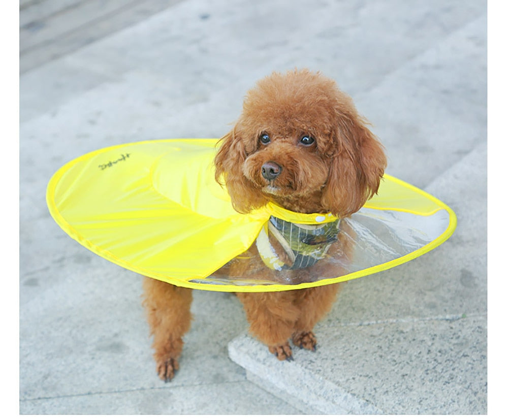 Dog Raincoat Interesting Umbrella Cloak Raincoat for Dogs Cute Waterproof Raincoat