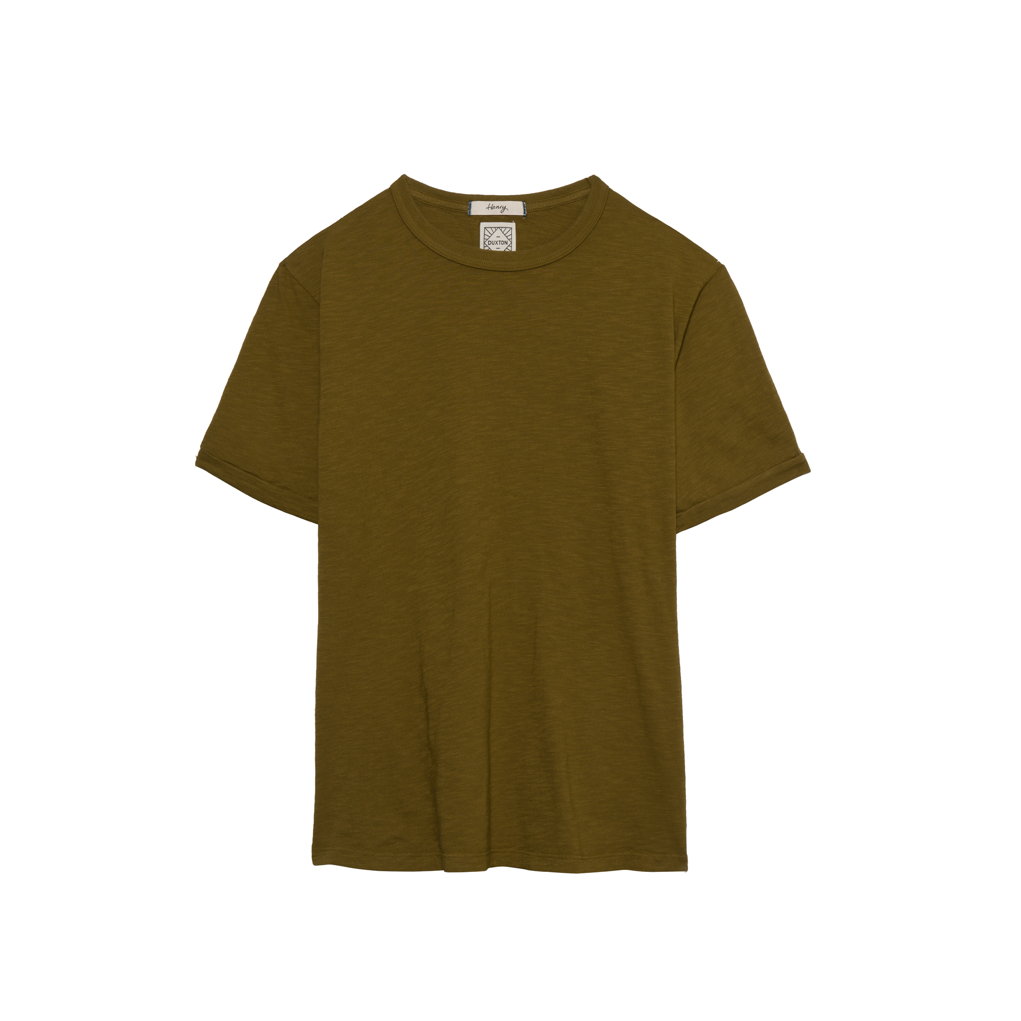 DUXTON mens Crew Neck Tee - Moss Green