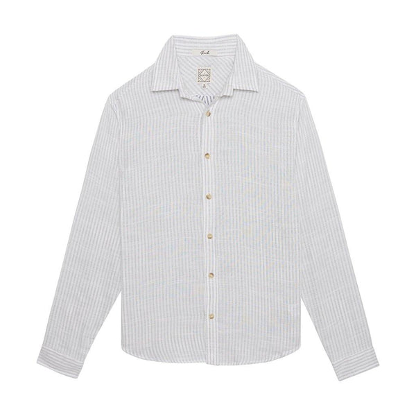 DUXTON Men's Long Sleeve Shirt - Ghost White
