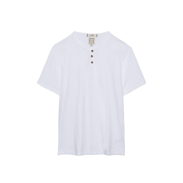 DUXTON Men's Henley Tee - Whitesands