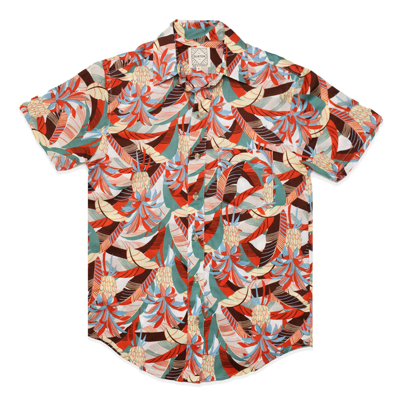 Aloha Shirt Button Down - Faded Red Pineapple | DUXTON