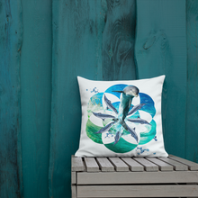 Load image into Gallery viewer, Ocean Vitality Mandala Pillow
