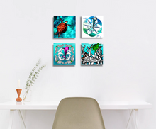 Load image into Gallery viewer, Ecstatic Dolphin Mandala Canvas Mini
