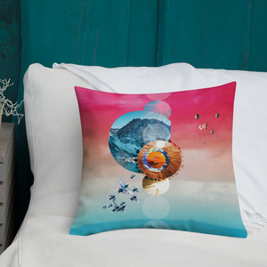 Sunrise Love Mandala Pillow