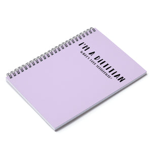 I'm A Dietitian Notebook (Purple)
