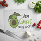 You Guac My World Glass Cutting Board