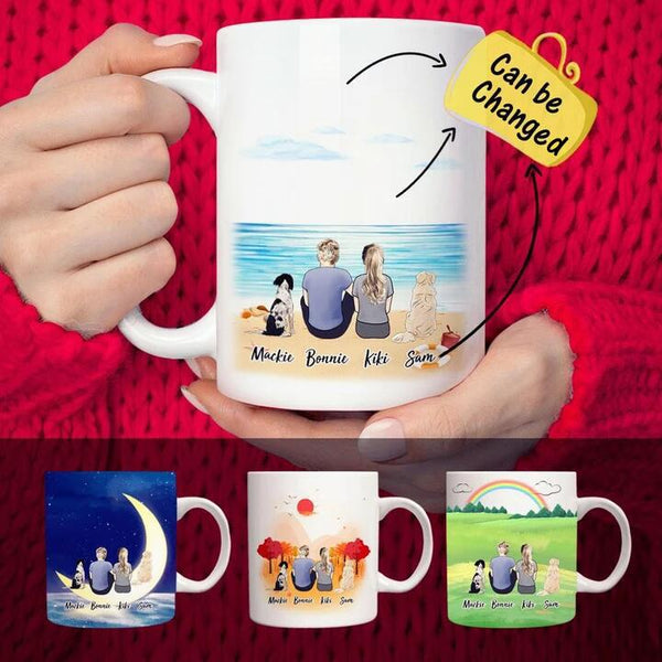 Custom Coffee Mugs For Dog And Person(online design & 3D preview)
