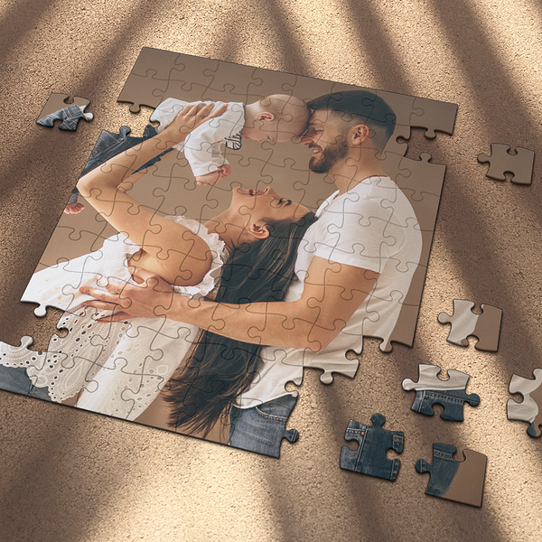 Custom Clear Jigsaw Puzzle Memorable Gifts For Best Dad-35-1000 pieces