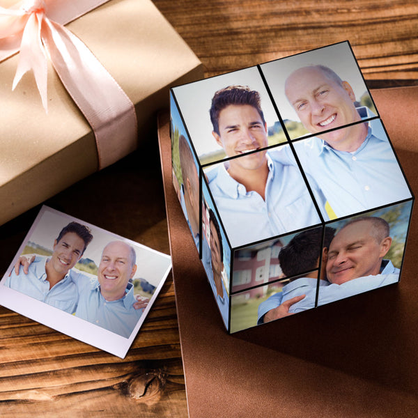 test2-Custom DIY Folding Picture Cube Father's Day Gift