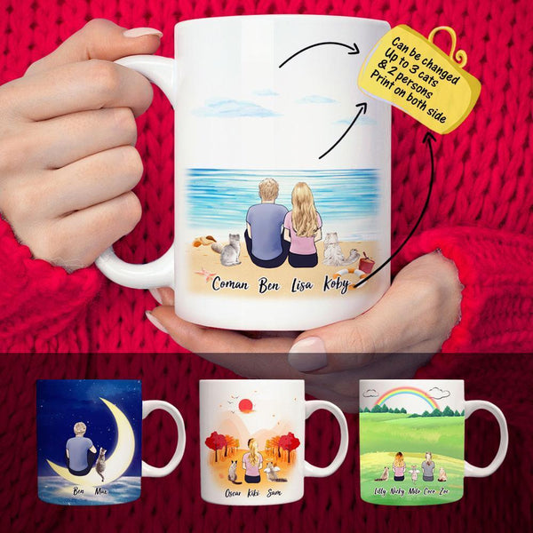 Custom Cat And Cat Owner Coffee Mugs Up To 10(online design & 3D preview)