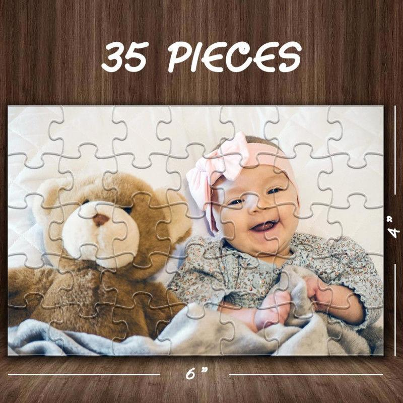Custom Mother's Day Puzzles With 3 Photos - Pink -35~1000 pieces