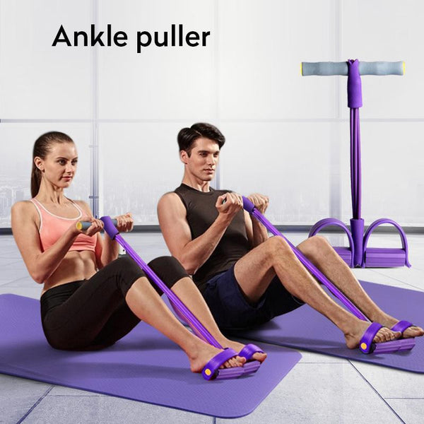 Indoor Fitness Resistance Bands Exercise Equipment Pedal Ankle Puller