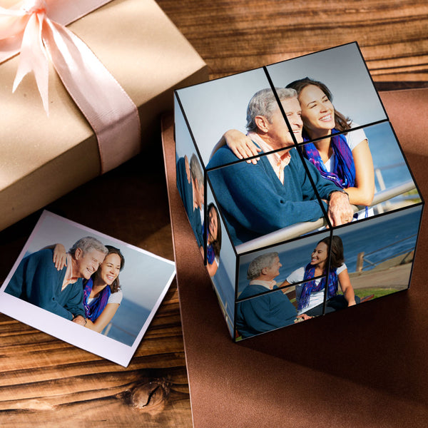 Custom DIY Magic Folding Photo Rubik's Cube Father's Day Gift