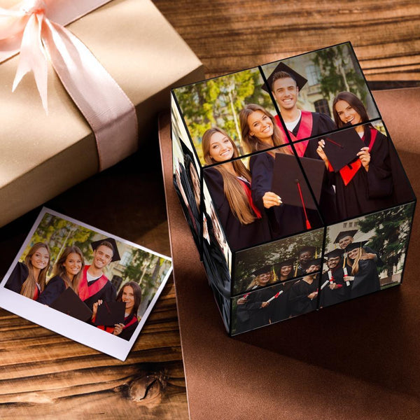 Custom DIY Magic Folding Graduation Photo Rubik's Cube