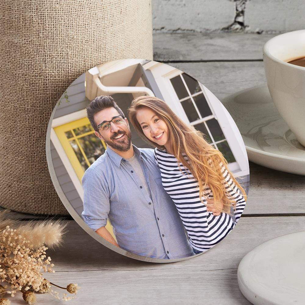 Round Custom Photo Coaster Unique Gift Only You Can Design