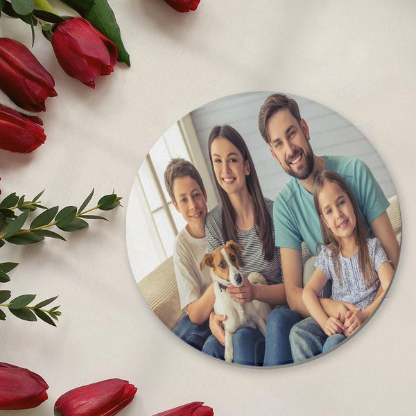 Round Custom Photo Coaster for Family