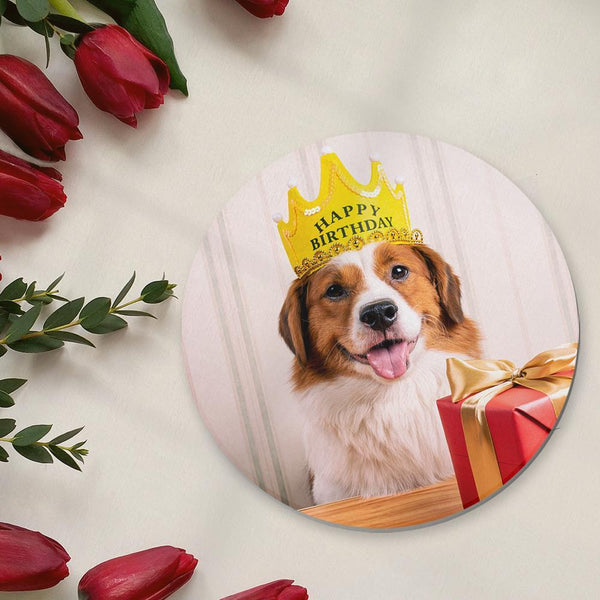 Round Custom Photo Coaster Pet Photo Coaster