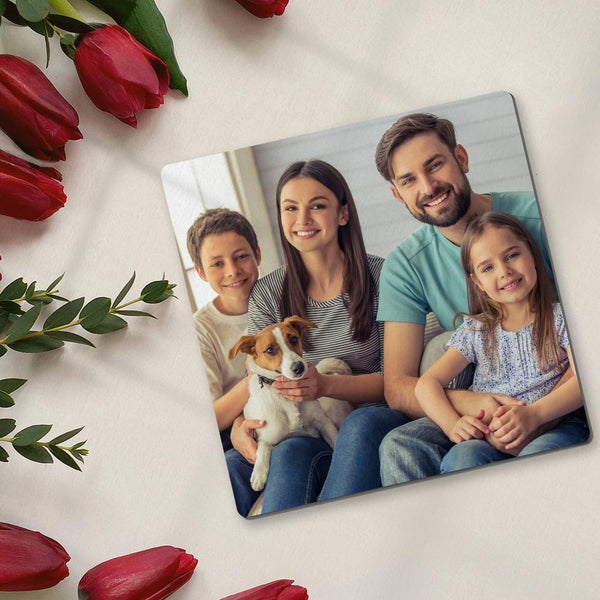 Square Custom Photo Coaster for Family