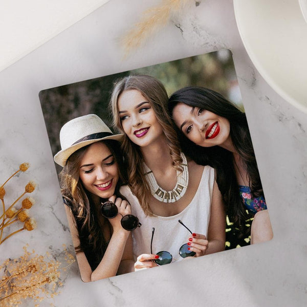 Square Custom Photo Coaster for Friends