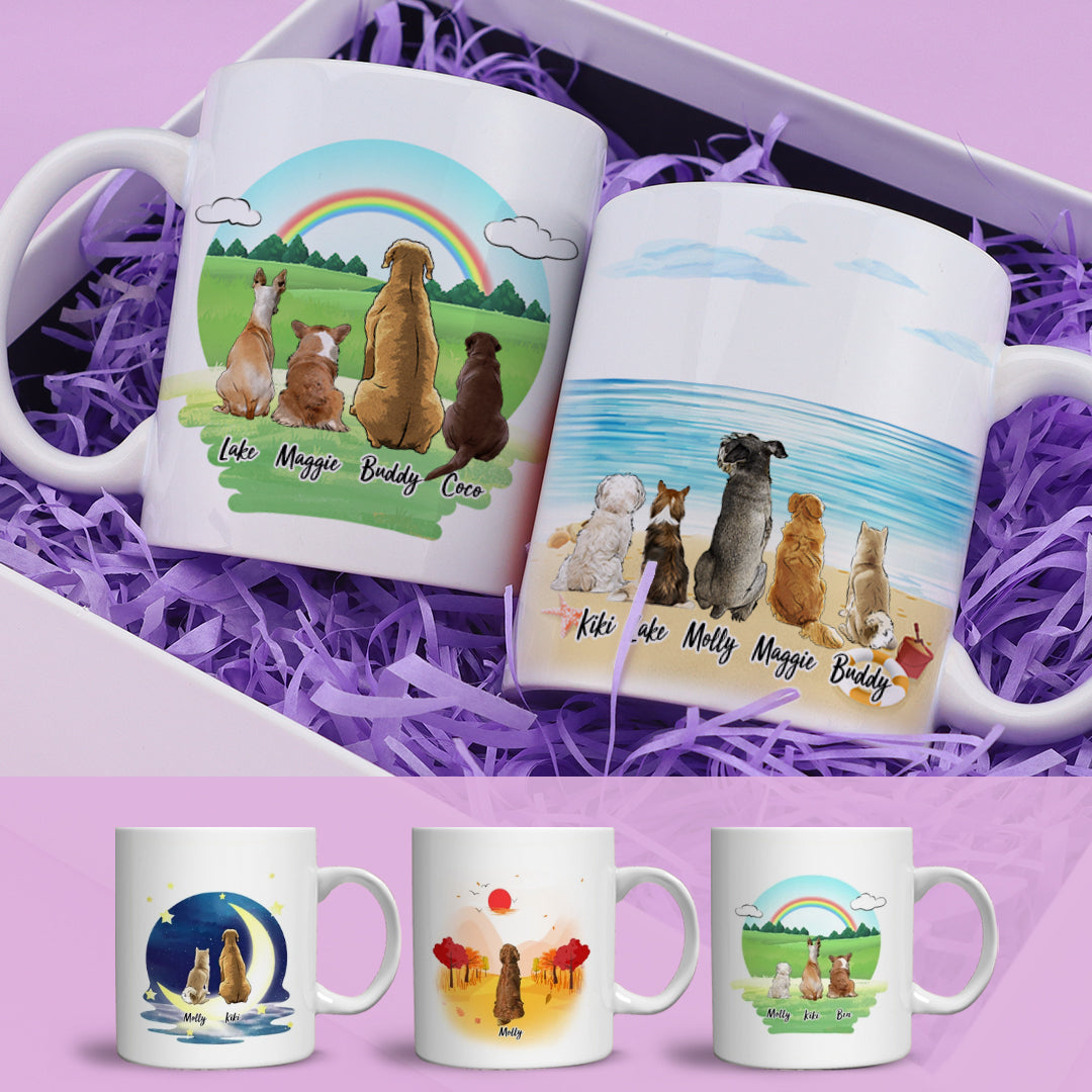 Personalized Dog Coffee Mug And Dog Friends(online design & 3D preview)