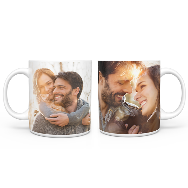 Personalized Photo Collage Mug with 2 Photos