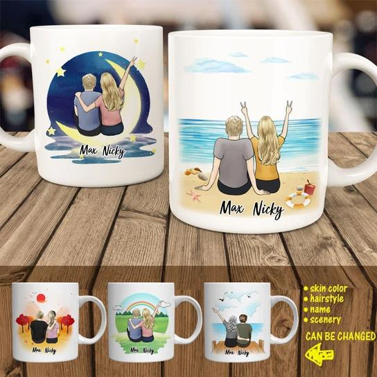 Couple Personalized Lover Coffee Mug