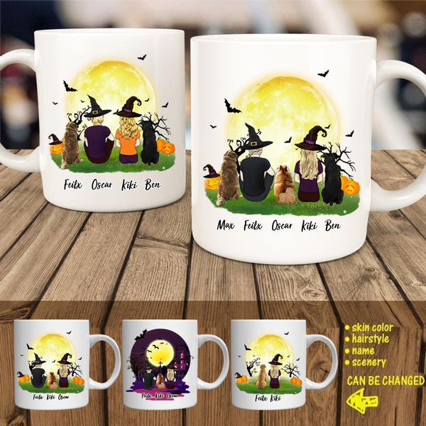 Halloween Dog and Person Coffee Mug