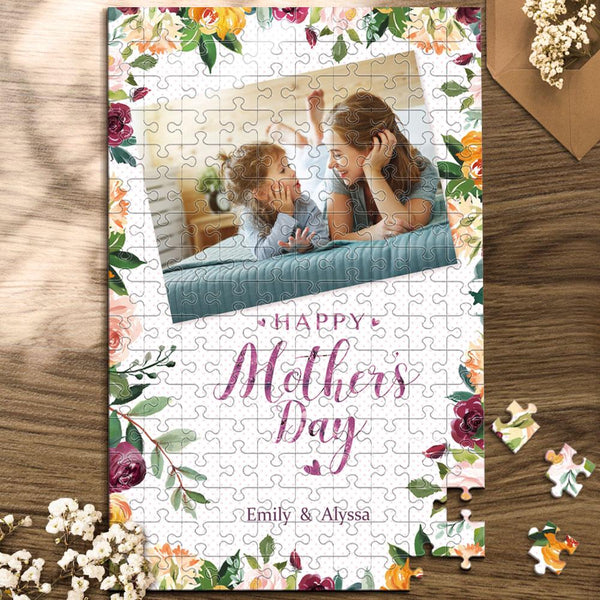 Custom Mother's Day Puzzles With Flowers - White ~35~1000 pieces