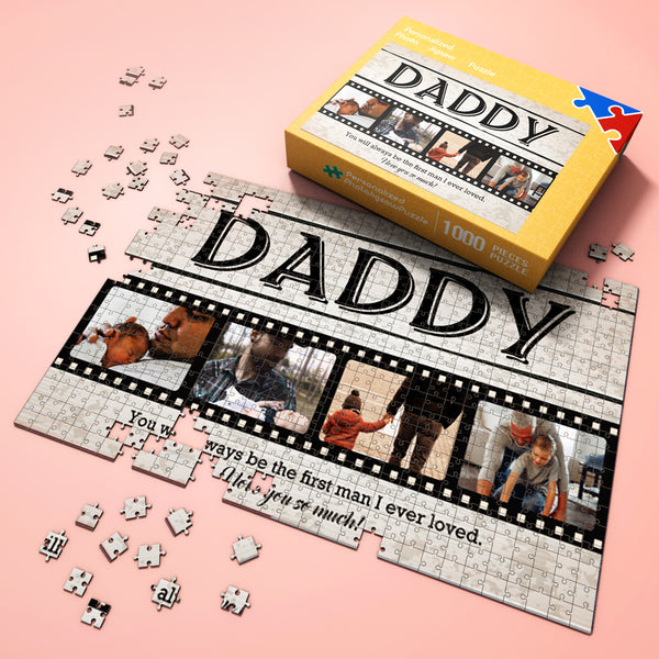 Custom Photo Jigsaw Puzzle Daddy I Love You So Much Best Indoor Gifts 300-1000 pieces