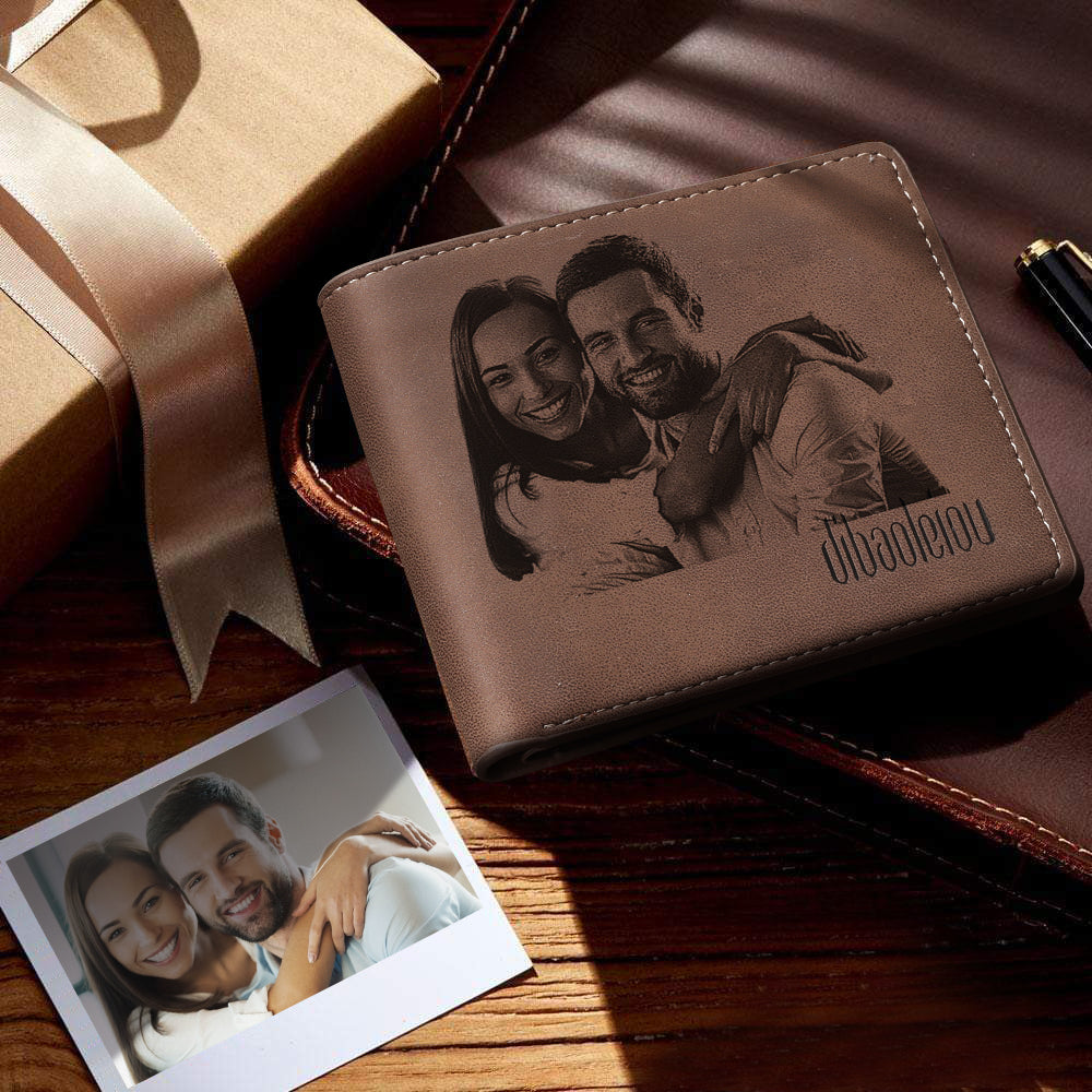 Custom Wallet Personalized Photo Wallet Bifold Color Printing Leather Credit Card Holder