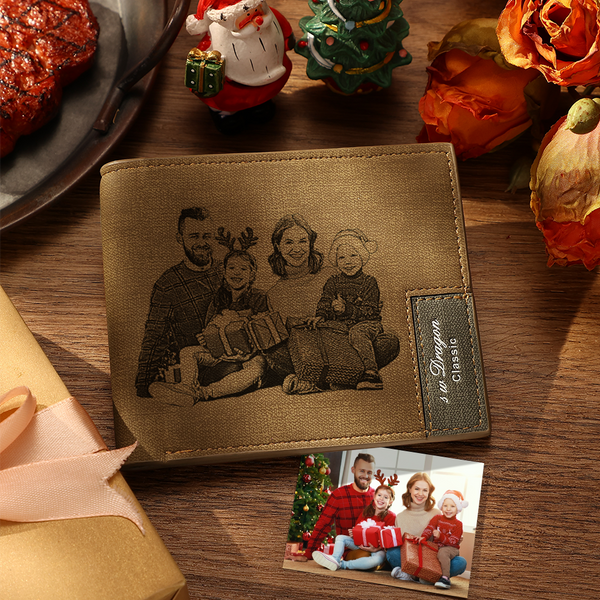 Custom Short Wallet -  Personalized Photo Bifold Lerther Wallet