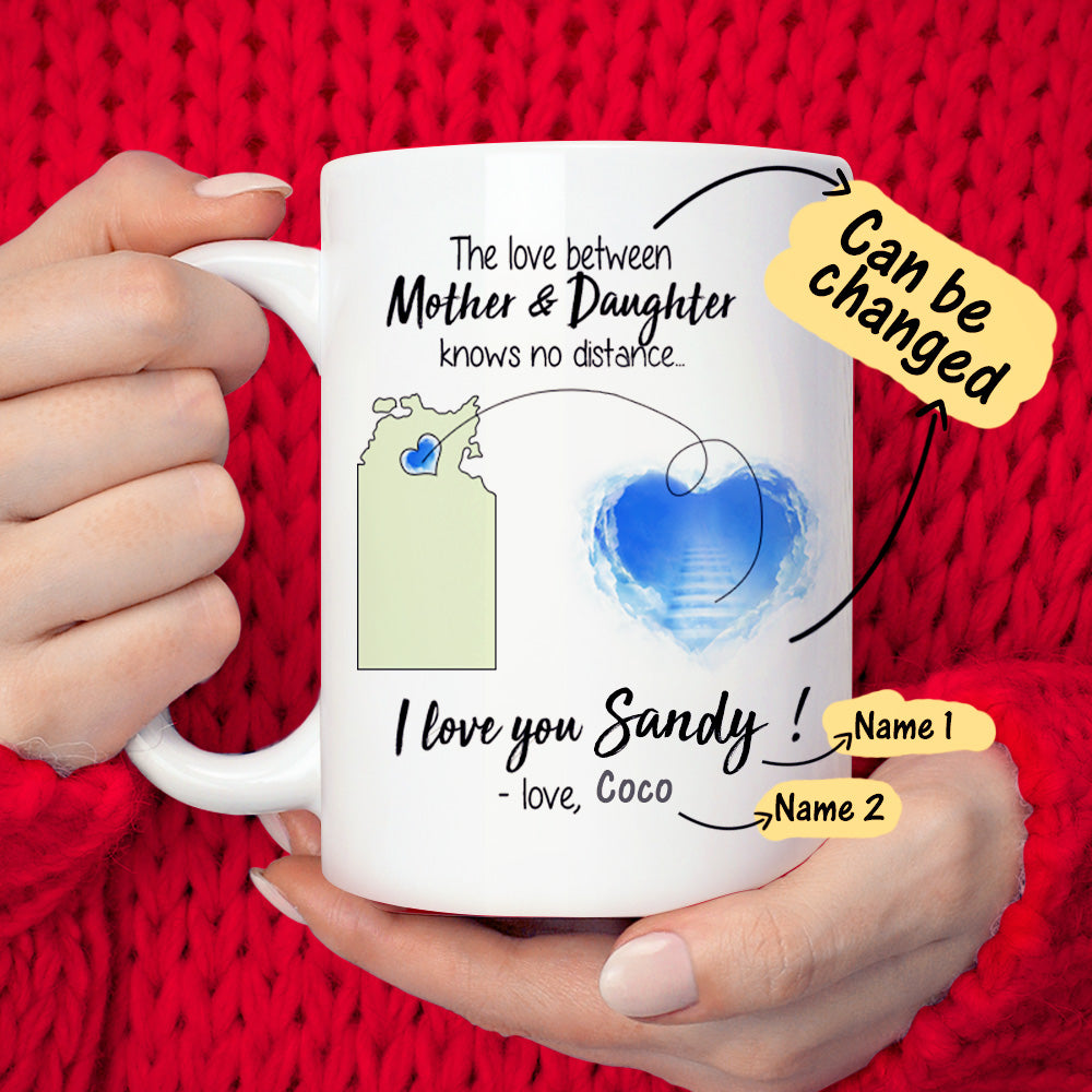 Personalized The Love Map Coffee Mug - Love Knows No Distance