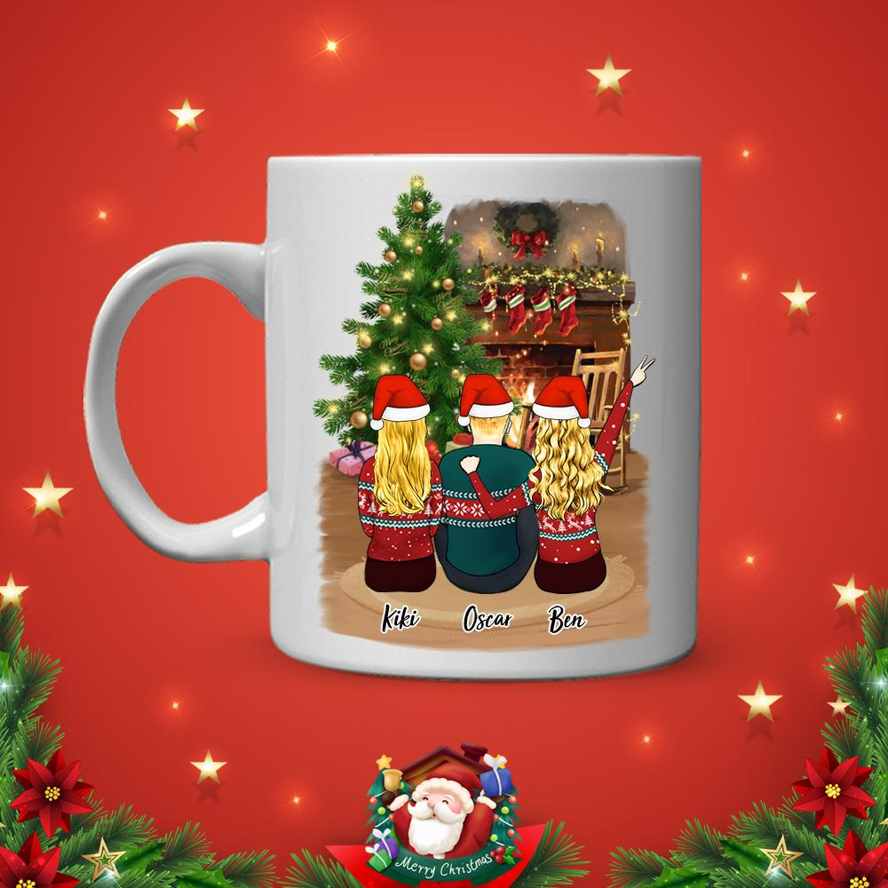 Personalized Best Friends Coffee Mug For Woman & Man - Christmas