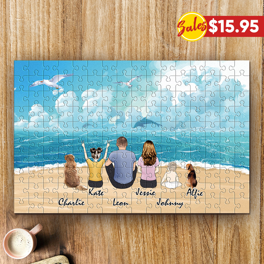 Custom Family Jigsaw Puzzles - 1000 pieces puzzle- photo puzzles
