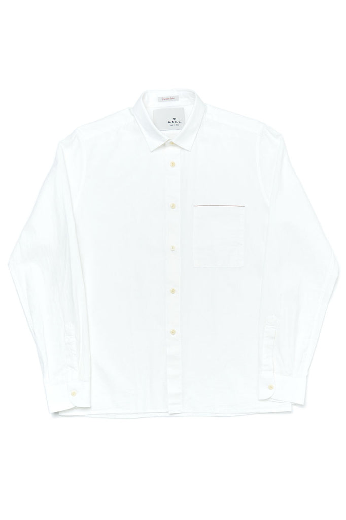 A.B.C.L. Garments Cali Overshirt Selvedge Chambray White