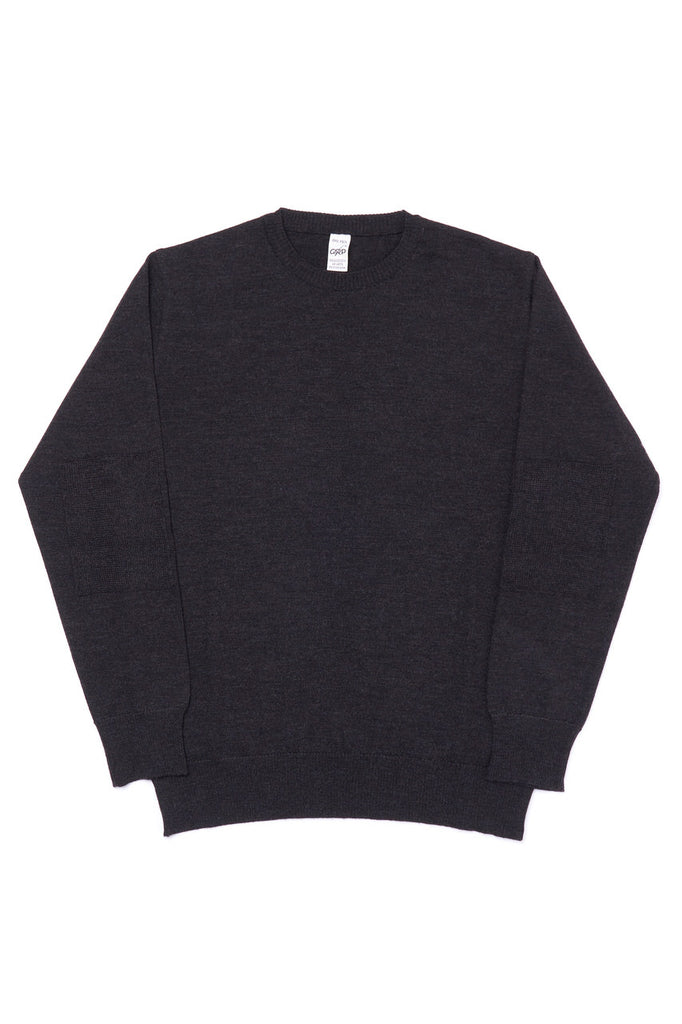 G.R.P. Knitwear Fine Knit Crew SF TEC 1 Merino Dark Brown
