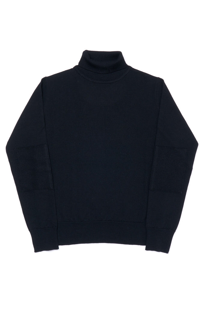 G.R.P. Knitwear Fine Knit Roll Neck SF TEC 1 Merino Black