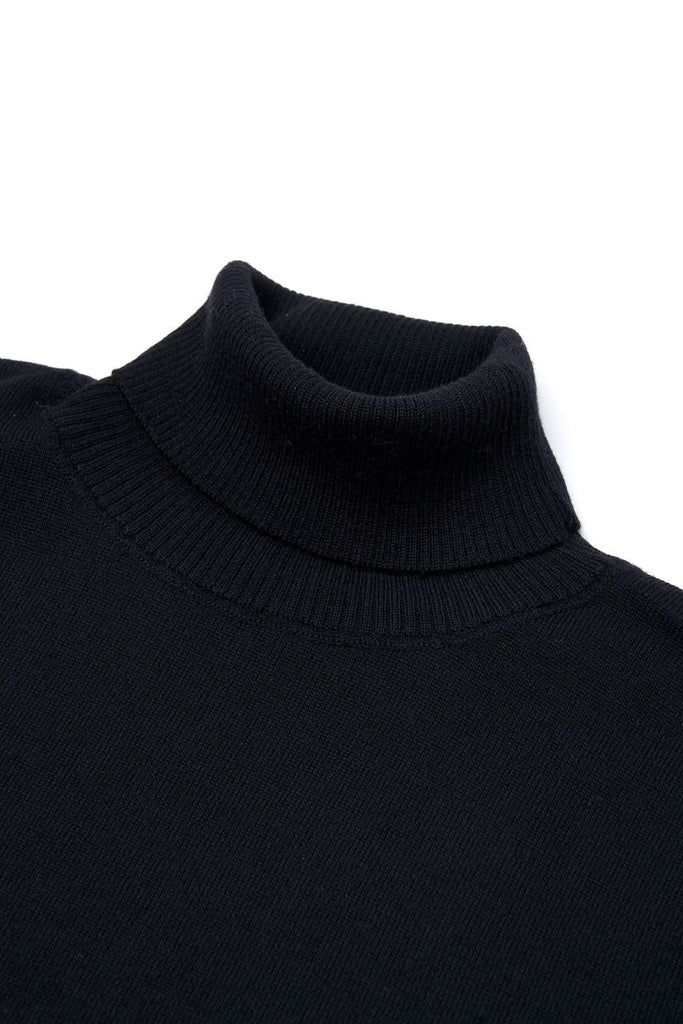 GRP Knitwear Fine Knit Roll Neck SF TEC 1 Merino Black