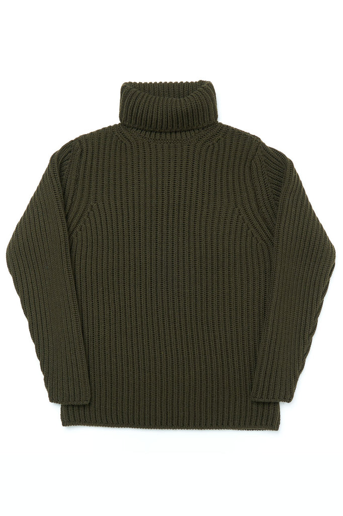GRP Knitwear Heavy Roll Neck SF M 40 Merino Dark Green