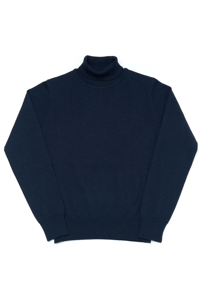 GRP Knitwear W' Fine Knit Turtleneck SF TEC 1 Navy