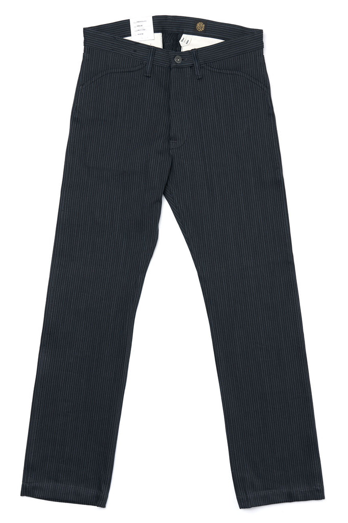 Indigofera Jeans Swearengen Pants Hickory Stripe Black / Grey