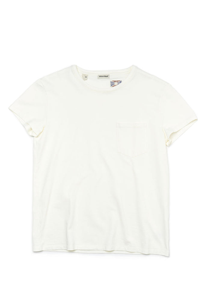 Indigofera Jeans Wilson T-Shirt Cocatoo White