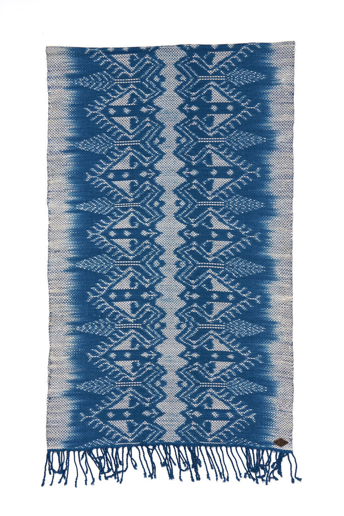 Indigo People Hand Loomed Ikat Crown Scarf