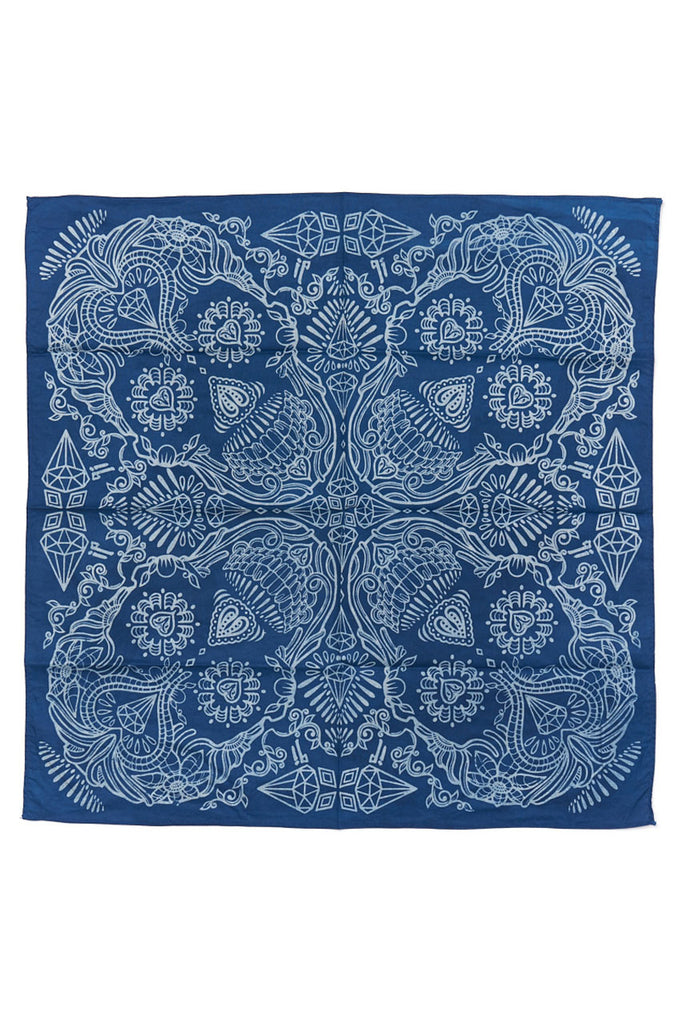 Indigo People Skull Bandana